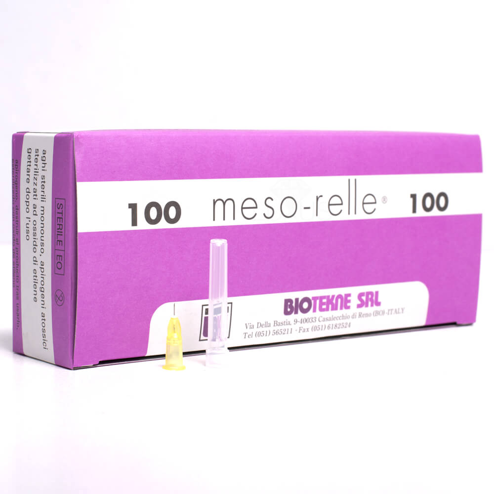 Messo-relle to sterylne igły zapewniające mniejszy ból i mniejsze ślady po wkłuciach